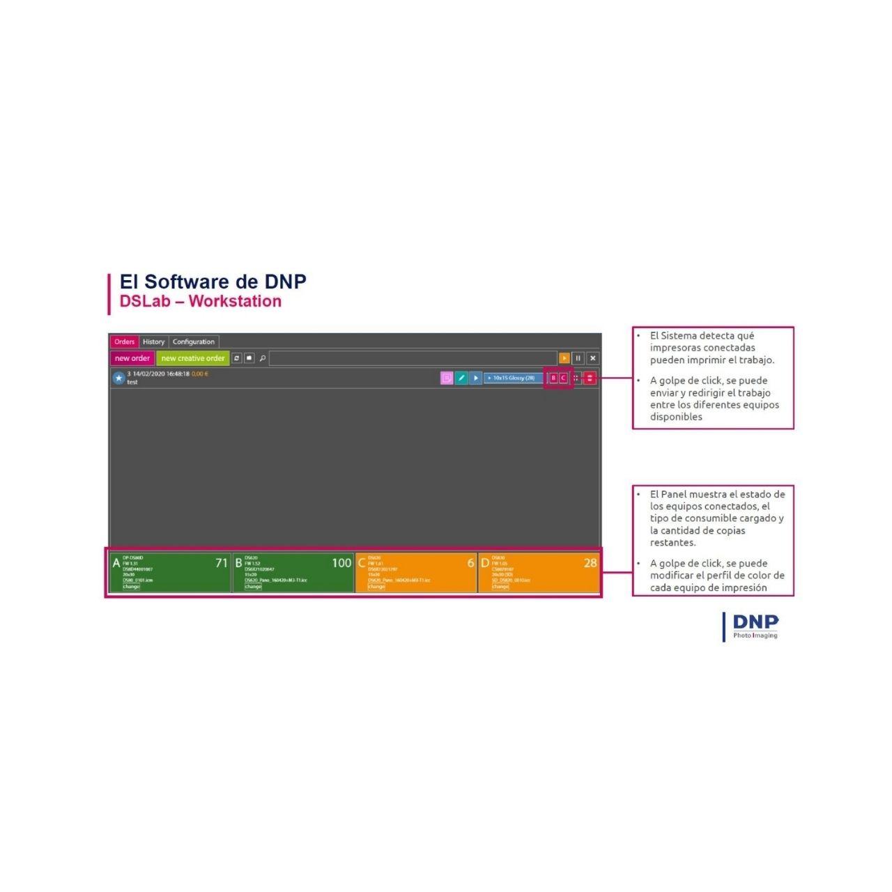 "DNP DS-T4 Kiosco Order Work Station 21,5"" + DS Lab Software"