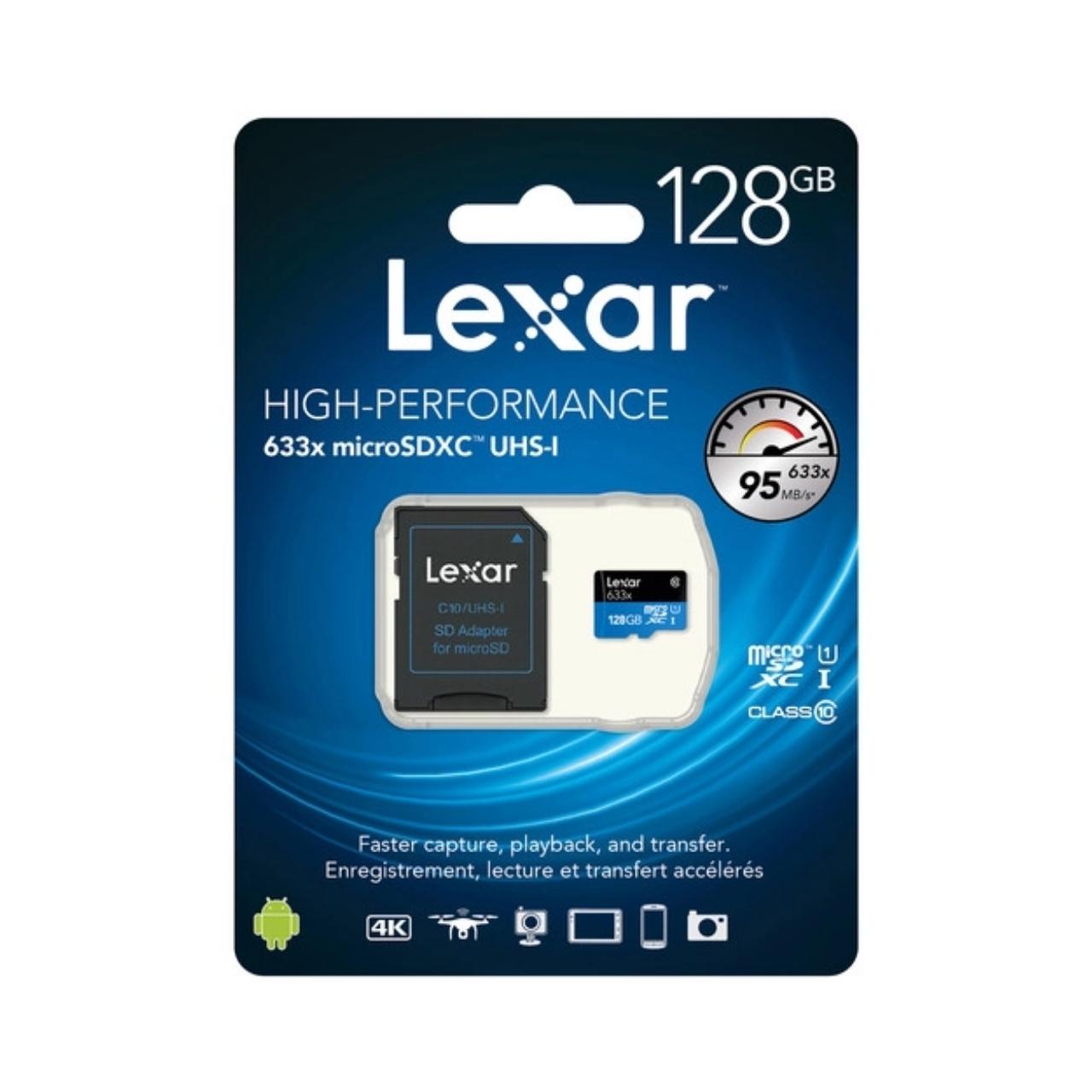 Lexar Tarjeta Memoria Micro SDXC 128Gb  Profesional 95Mb/s, UHS-I, U3, V30
