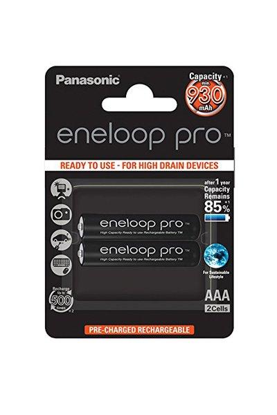 Panasonic Eneloop Pro Pila Recargable R3/AAA NiMh 930mAh 1,2V Blister 2 u.