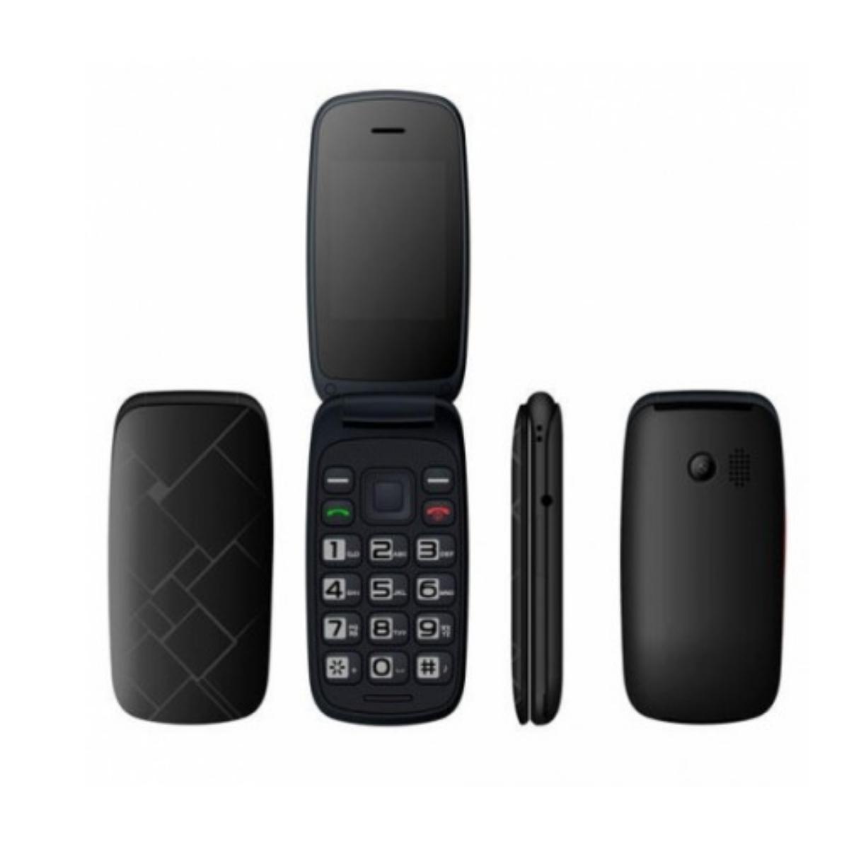 Qubo Teléfono Móvil Neo 2, Dual SIM, Negro + Base de carga