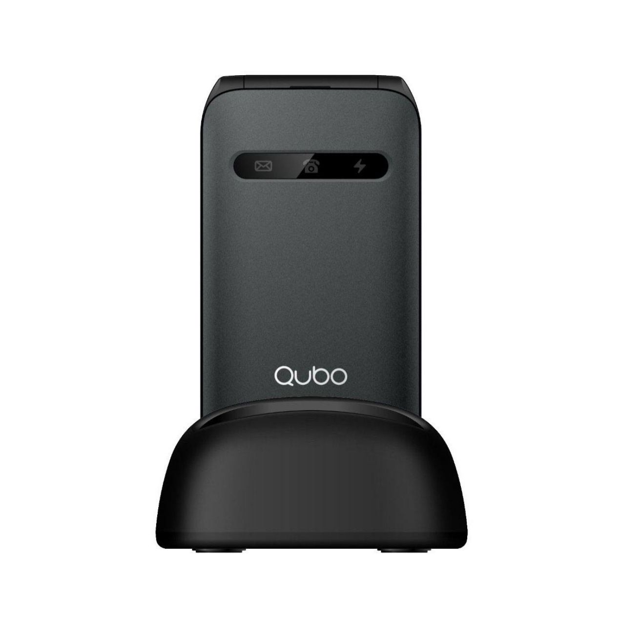 Qubo Teléfono Móvil X-209, Dual SIM, Negro + Base de Carga