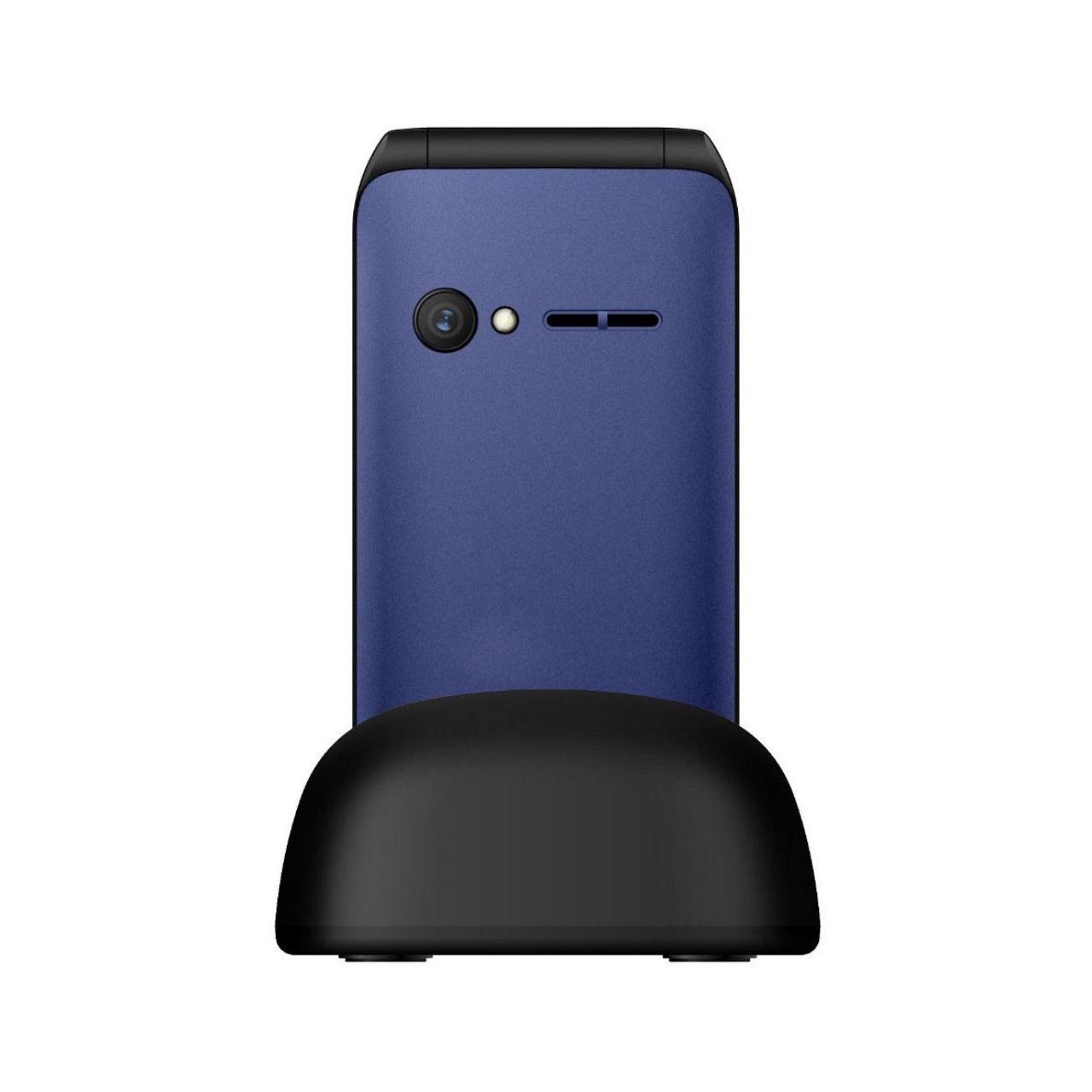 Qubo Teléfono Móvil X-209, Dual SIM, Azul + Base de Carga