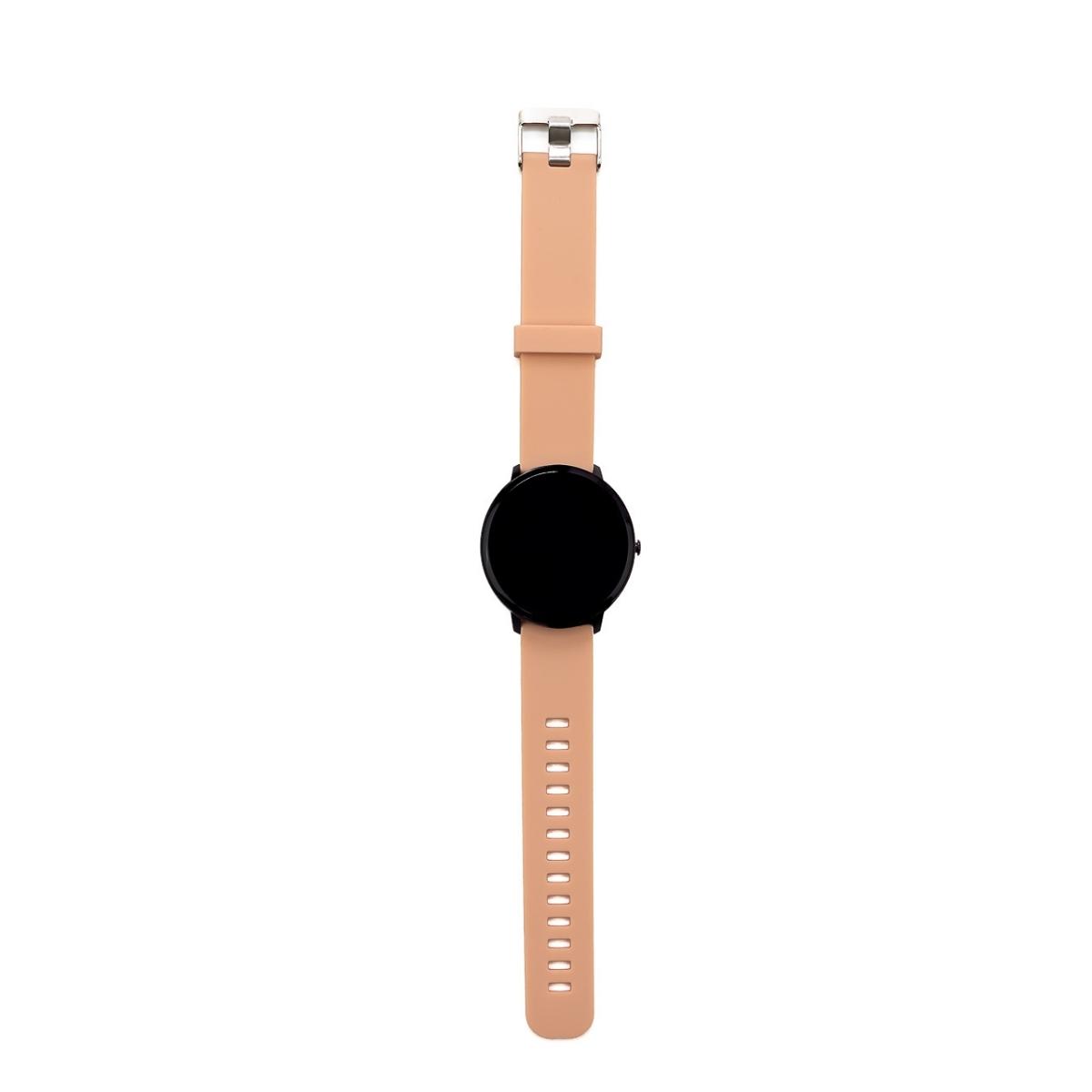 Swiss+Go Smart Watch Arosa Esfera Negra correa Rosa
