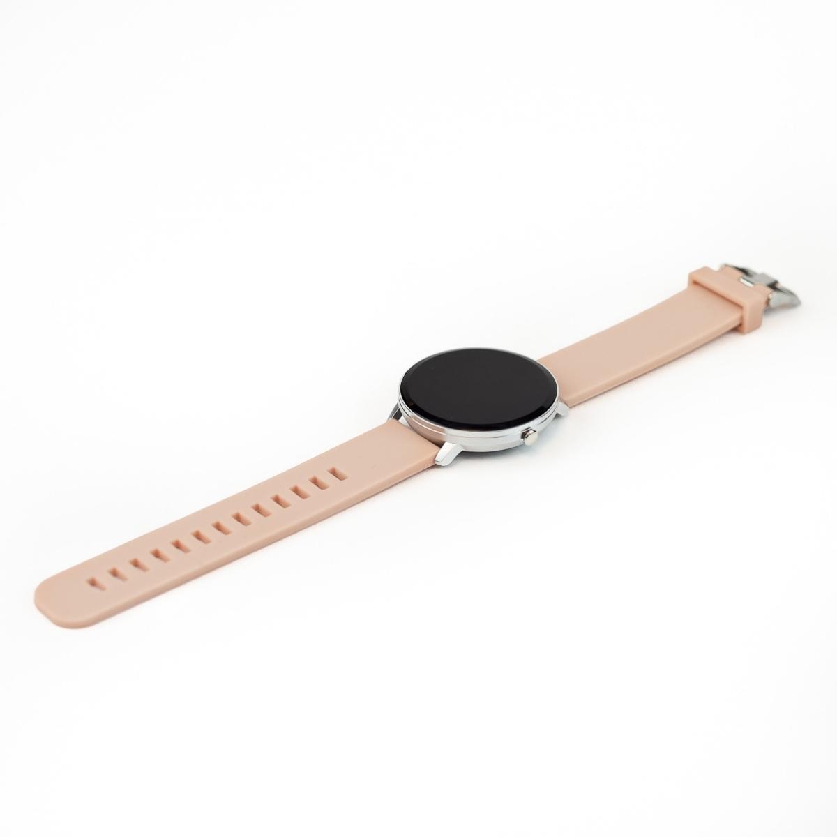 Swiss+Go Smart Watch Arosa Esfera Plata correa Rosa