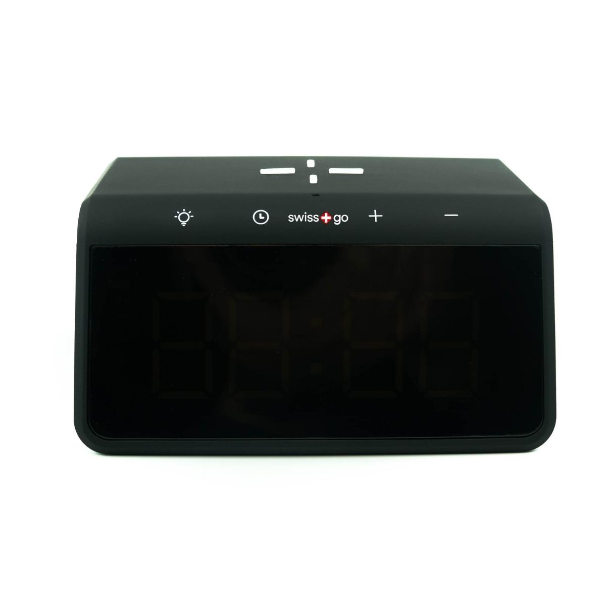 Swiss+Go Reloj despertador y cargador inalámbrico Qi Enea