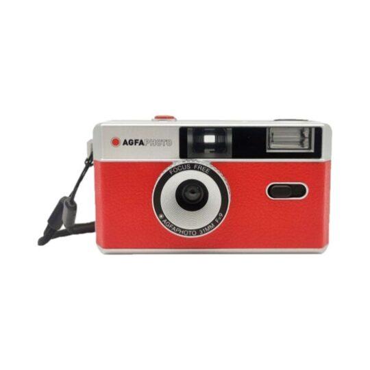 Cámara Compacta Analógica Agfa 35 mm Roja + Bolsa