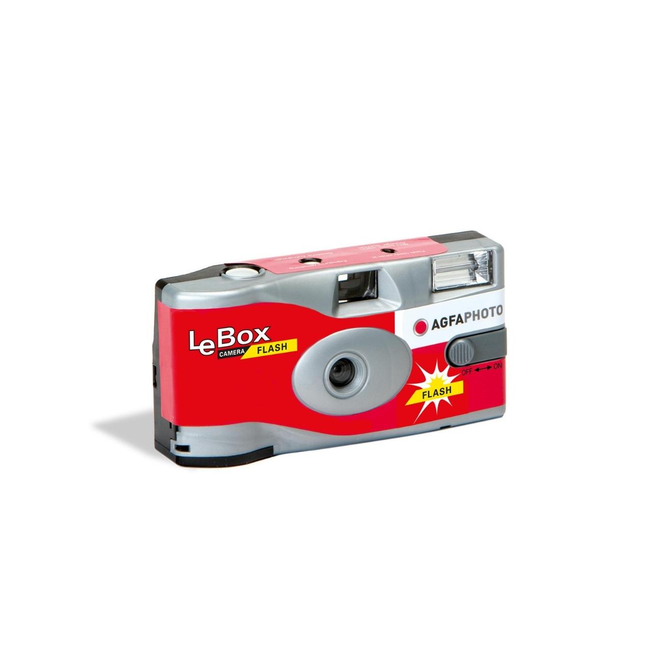 AgfaPhoto LeBox 400-27 con Flash, cámara de un solo uso