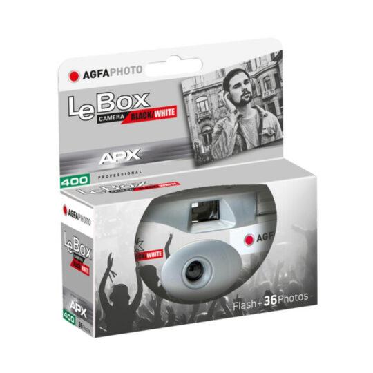 AgfaPhoto LeBox 400-36 Black/White con Flash, cámara de un solo uso