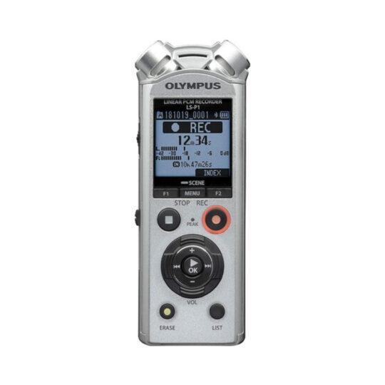 Grabadora Digital de Voz Olympus LS-P1 Plata + Batería recargable, adaptador trípode