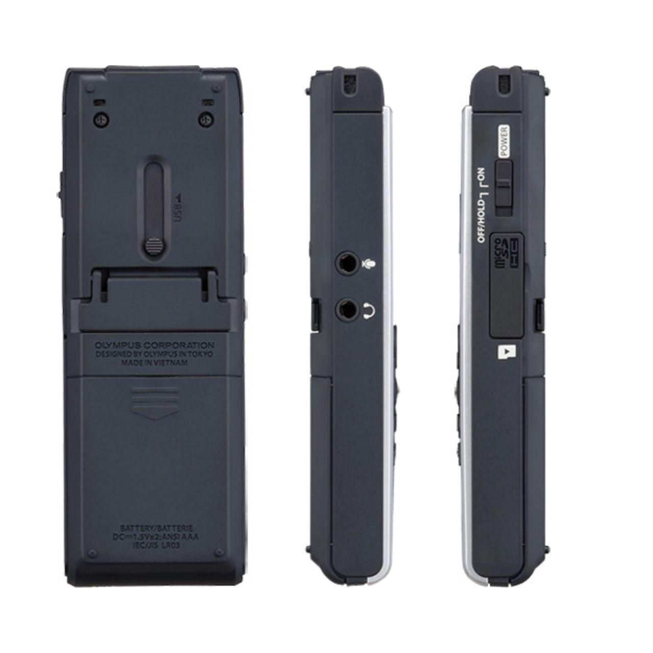 Olympus WS-852 Grabadora Digital de Voz Plata 4Gb + Batería recargable