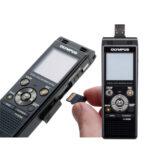 Grabadora Digital de Voz Olympus WS-853 Negro (8GB) + Batería recargable y funda