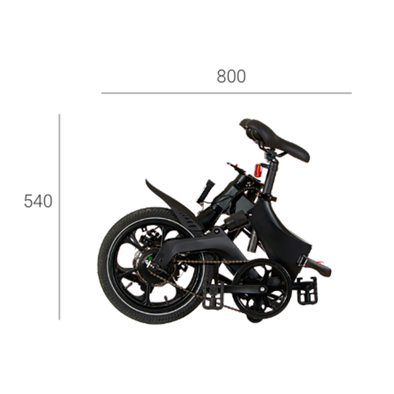 """Swiss+Go BK-16 eBike Bicicleta Eléctrica plegable Rueda 16"""", Motor 250w, 36v, Batería Litio 36V / 6,4 Ah"""