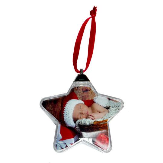 AP Foto Adorno Navidad Personalizable Estrella 84x72 mm