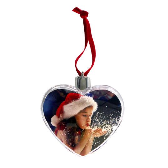 AP Foto Adorno Navidad Personalizable Corazón 84x72 mm